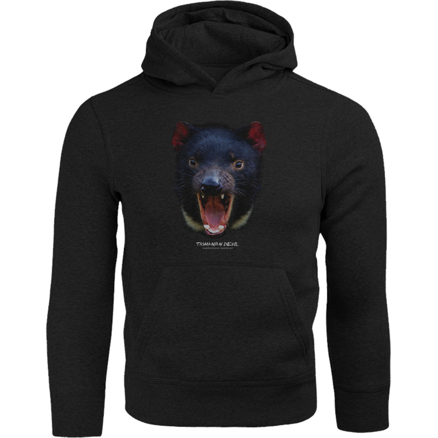 Tasmanian Devil Head - Adult & Youth Hoodie - Graphic Tees Australia
