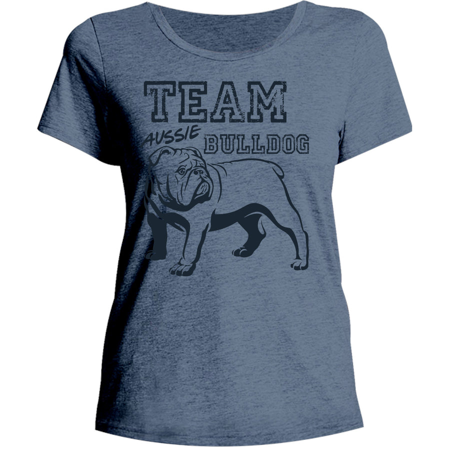 Team Aussie Bulldog - Ladies Relaxed Fit Tee - Graphic Tees Australia