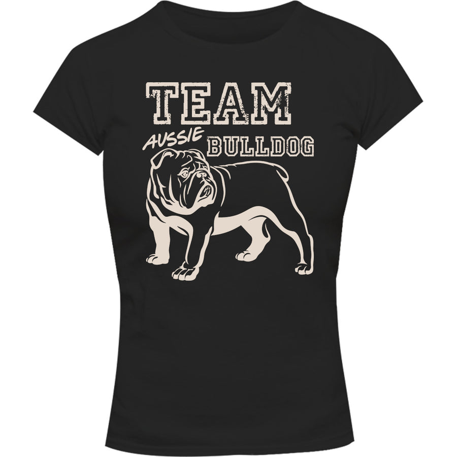 Team Aussie Bulldog - Ladies Slim Fit Tee - Graphic Tees Australia