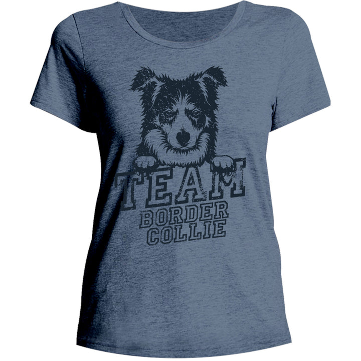 Team Border Collie - Ladies Relaxed Fit Tee - Graphic Tees Australia