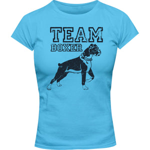 Team Boxer - Ladies Slim Fit Tee - Graphic Tees Australia