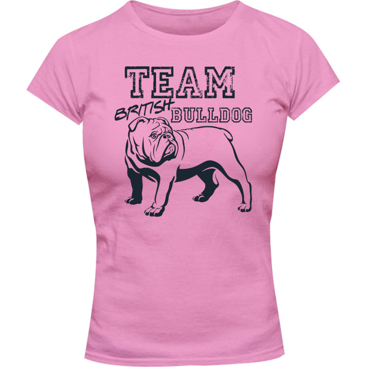 Team British Bulldog - Ladies Slim Fit Tee - Graphic Tees Australia