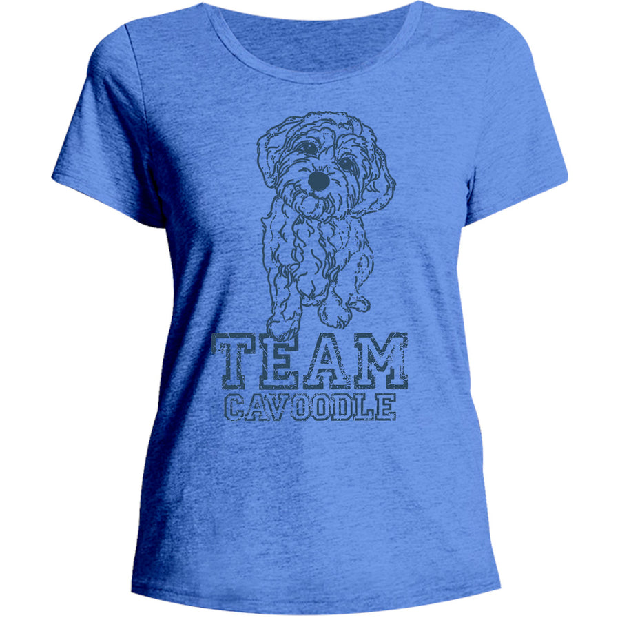 Team Cavoodle - Ladies Relaxed Fit Tee - Graphic Tees Australia