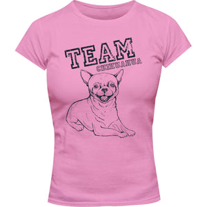 Team Chihuahua - Ladies Slim Fit Tee - Graphic Tees Australia