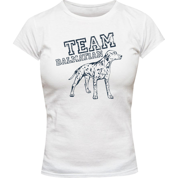 Team Dalmatian - Ladies Slim Fit Tee - Graphic Tees Australia