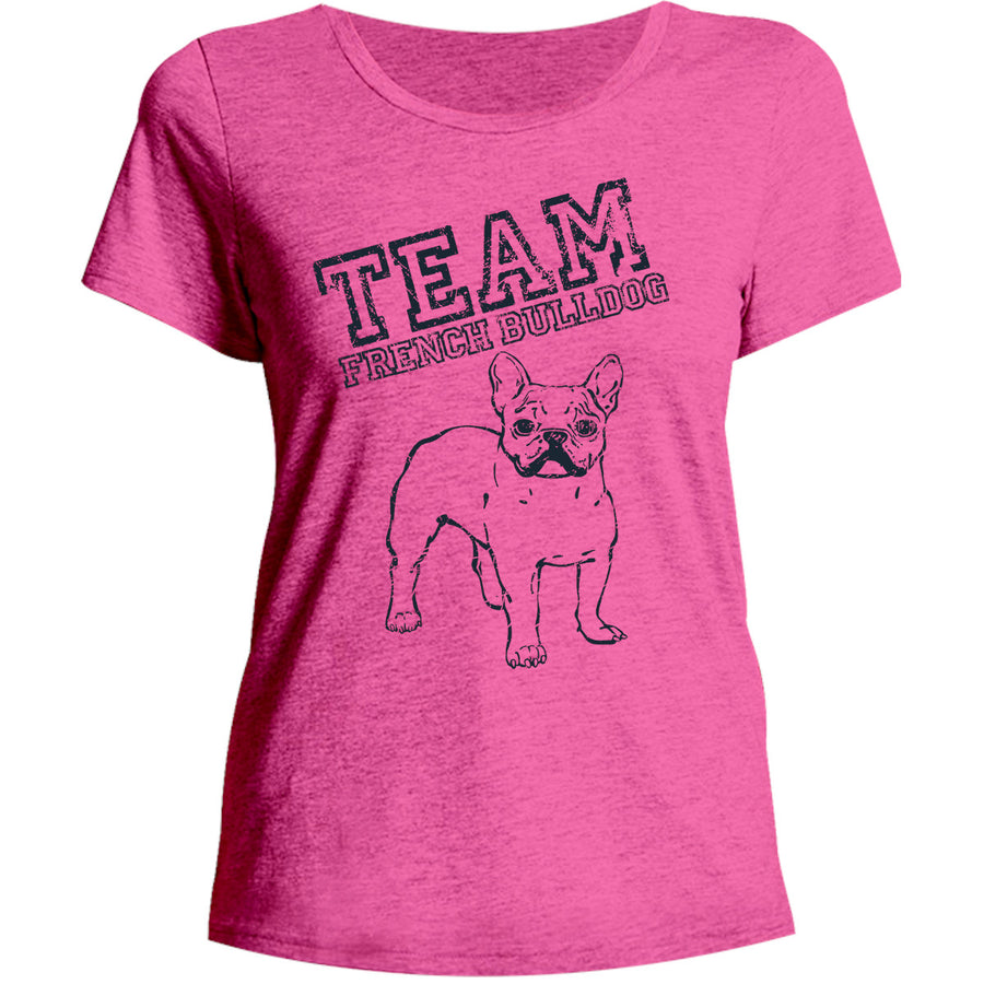 Team French Bulldog - Ladies Relaxed Fit Tee - Graphic Tees Australia