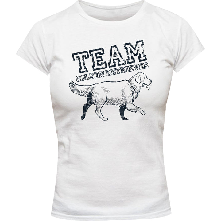 Team Golden Retriever - Ladies Slim Fit Tee - Graphic Tees Australia