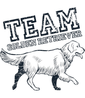 Team Golden Retriever - Ladies Relaxed Fit Tee - Graphic Tees Australia