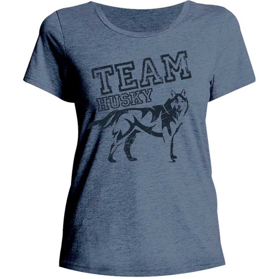 Team Husky - Ladies Relaxed Fit Tee - Graphic Tees Australia