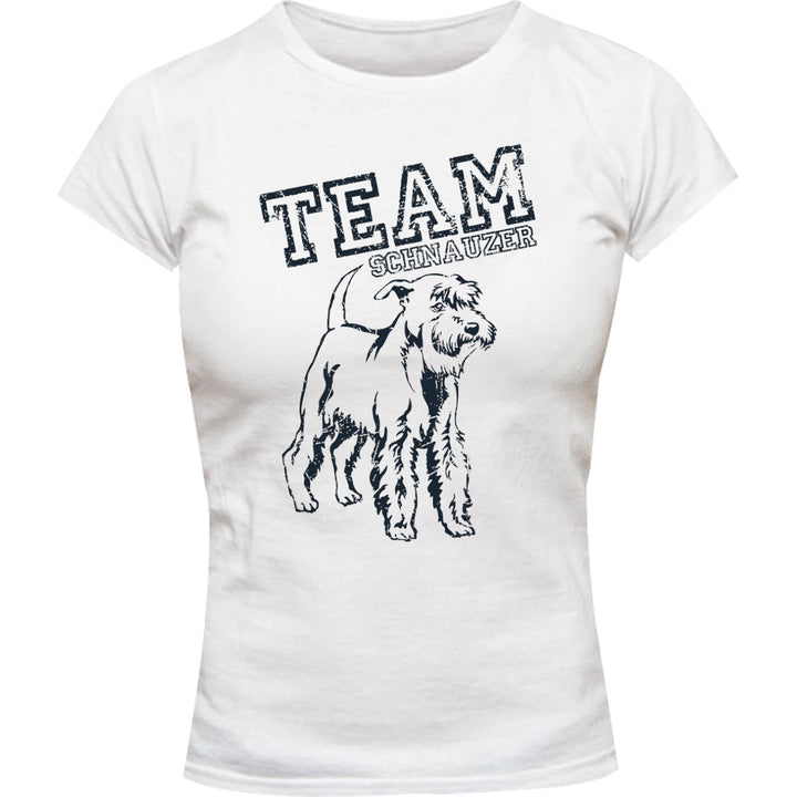 Team Schnauzer - Ladies Slim Fit Tee - Graphic Tees Australia
