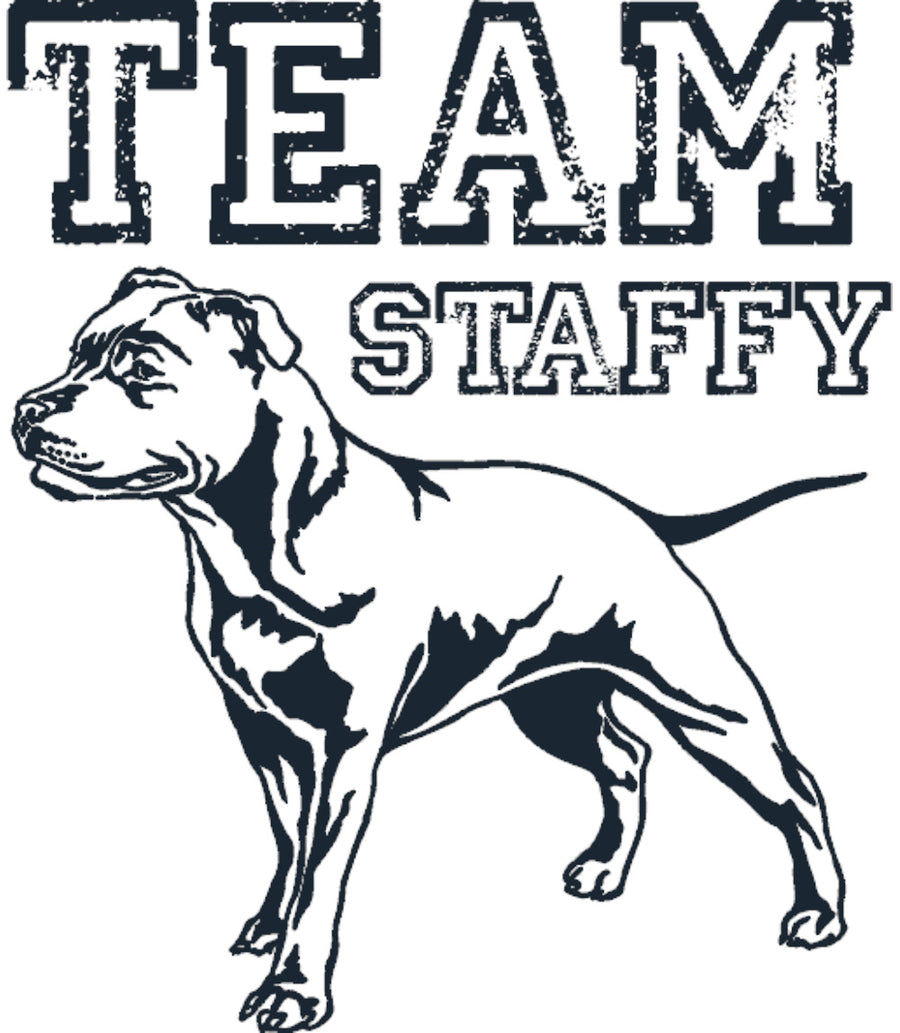 Team Staffy - Ladies Slim Fit Tee - Graphic Tees Australia