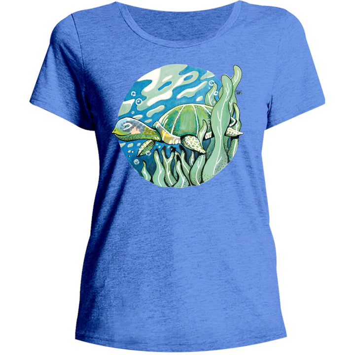 Turtle - Ladies Relaxed Fit Tee - Graphic Tees Australia