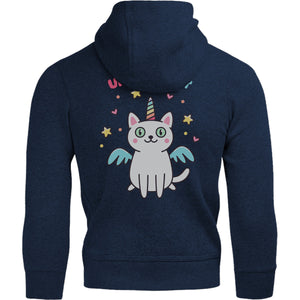 Unicorn Cat - Adult & Youth Hoodie - Graphic Tees Australia