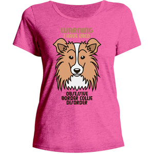 Warning I Have OBCD - Ladies Relaxed Fit Tee - Graphic Tees Australia