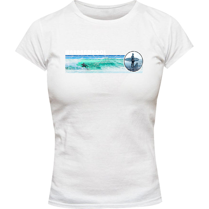 Warrnambool Landscape - Ladies Slim Fit Tee - Graphic Tees Australia