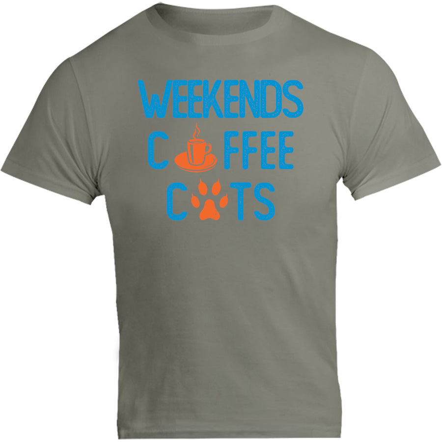 Weekends Coffee Cats GPAWS front & back - Unisex Tee