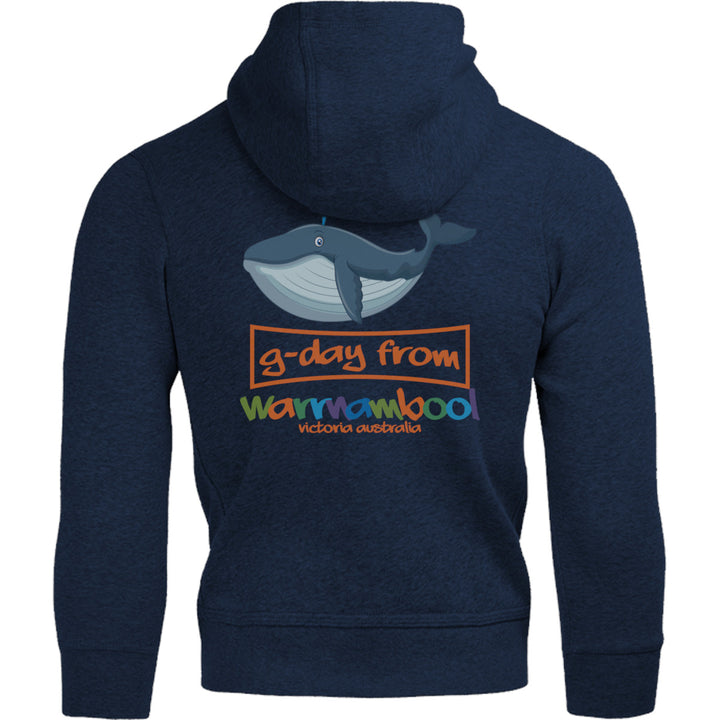 Whale G'day From Warrnambool - Adult & Youth Hoodie - Graphic Tees Australia