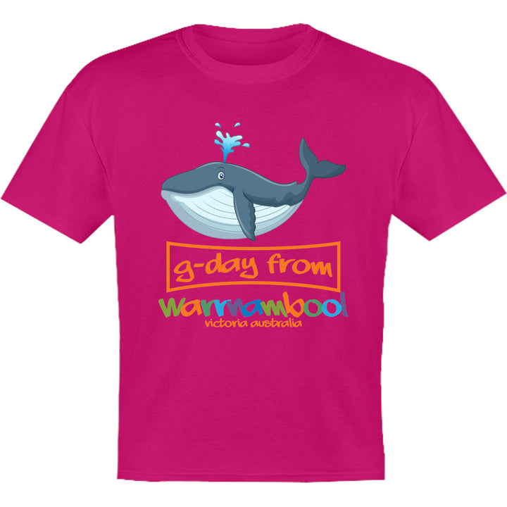 Whale G'day From Warrnambool - Youth & Infant Tee - Graphic Tees Australia