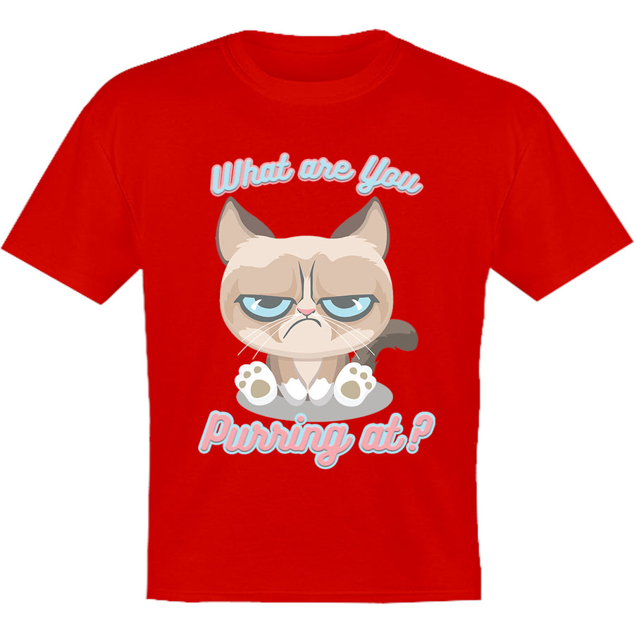 What Are You Purring At? - Youth & Infant Tee - Graphic Tees Australia