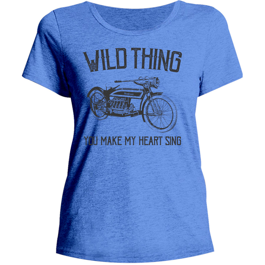 Wild Thing - Ladies Relaxed Fit Tee - Graphic Tees Australia