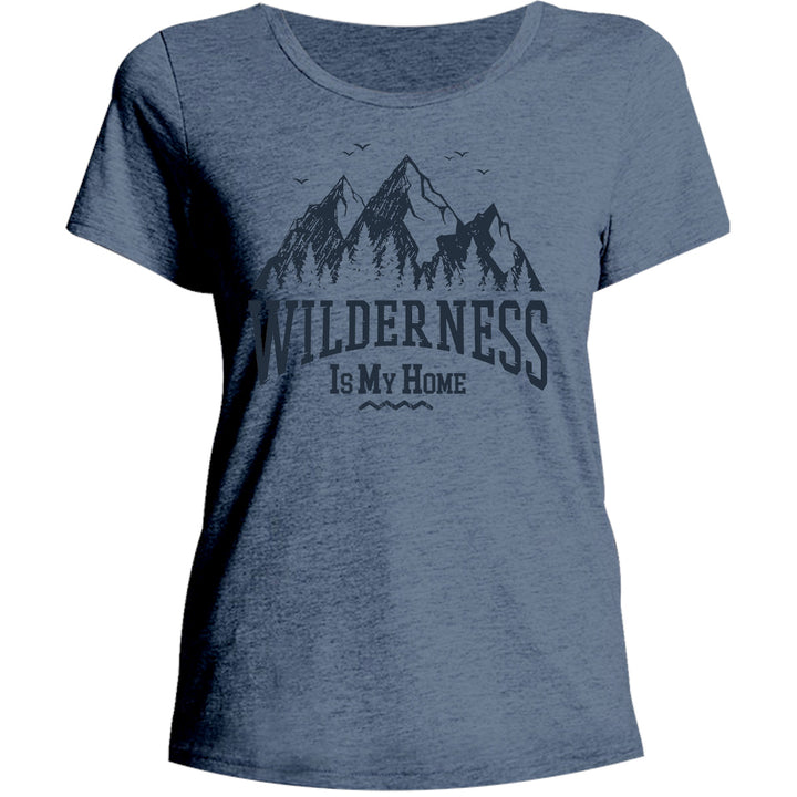 Wilderness Is My Home - Ladies Relaxed Fit Tee - Graphic Tees Australia