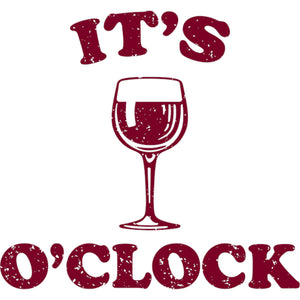 Wine O Clock - Ladies Relaxed Fit Tee - Graphic Tees Australia