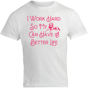 Work Hard For My Labrador - Unisex Tee - Graphic Tees Australia