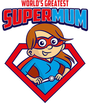 World's Greatest Super Mum - Adult & Youth Hoodie - Graphic Tees Australia