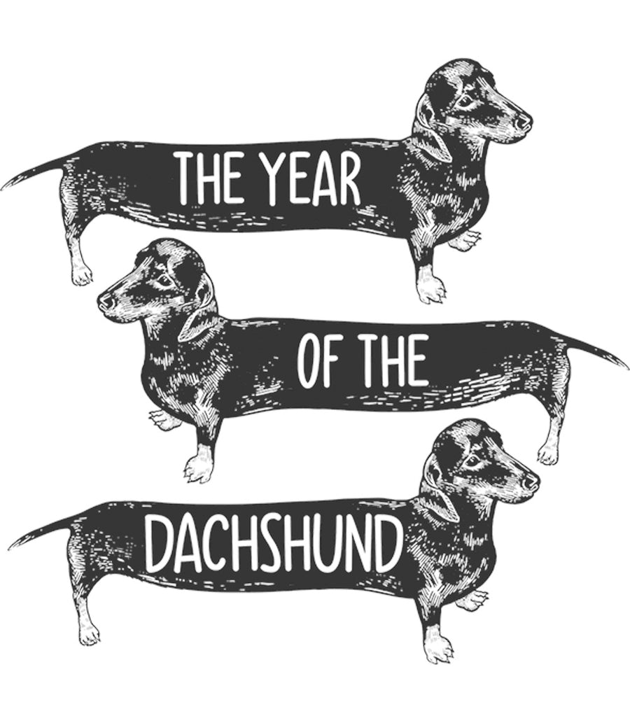 Year Of The Dachshund - Ladies Slim Fit Tee - Graphic Tees Australia