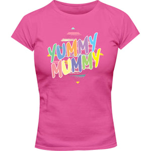 Yummy Mummy - Ladies Slim Fit Tee - Graphic Tees Australia