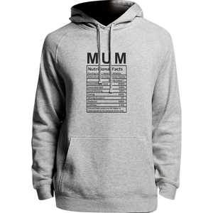 Mum Nutritional Facts - Unisex Hoodie - Plus Size
