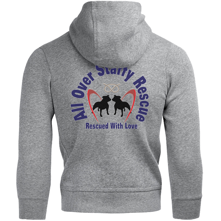 All Over Staffy Rescue front & back - Unisex Hoodie - Graphic Tees Australia
