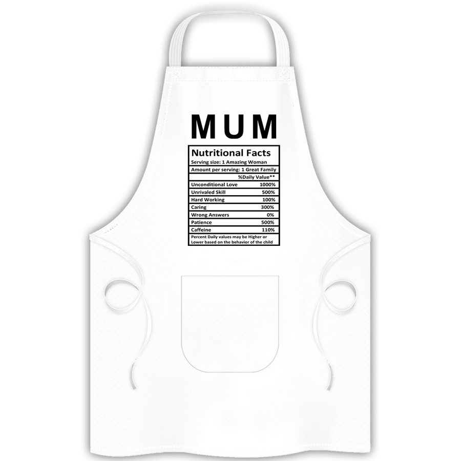 Mum Nutritional Facts - Apron