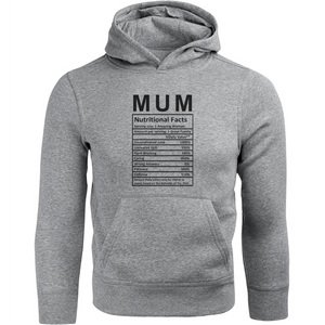 Mum Nutritional Facts - Unisex Hoodie