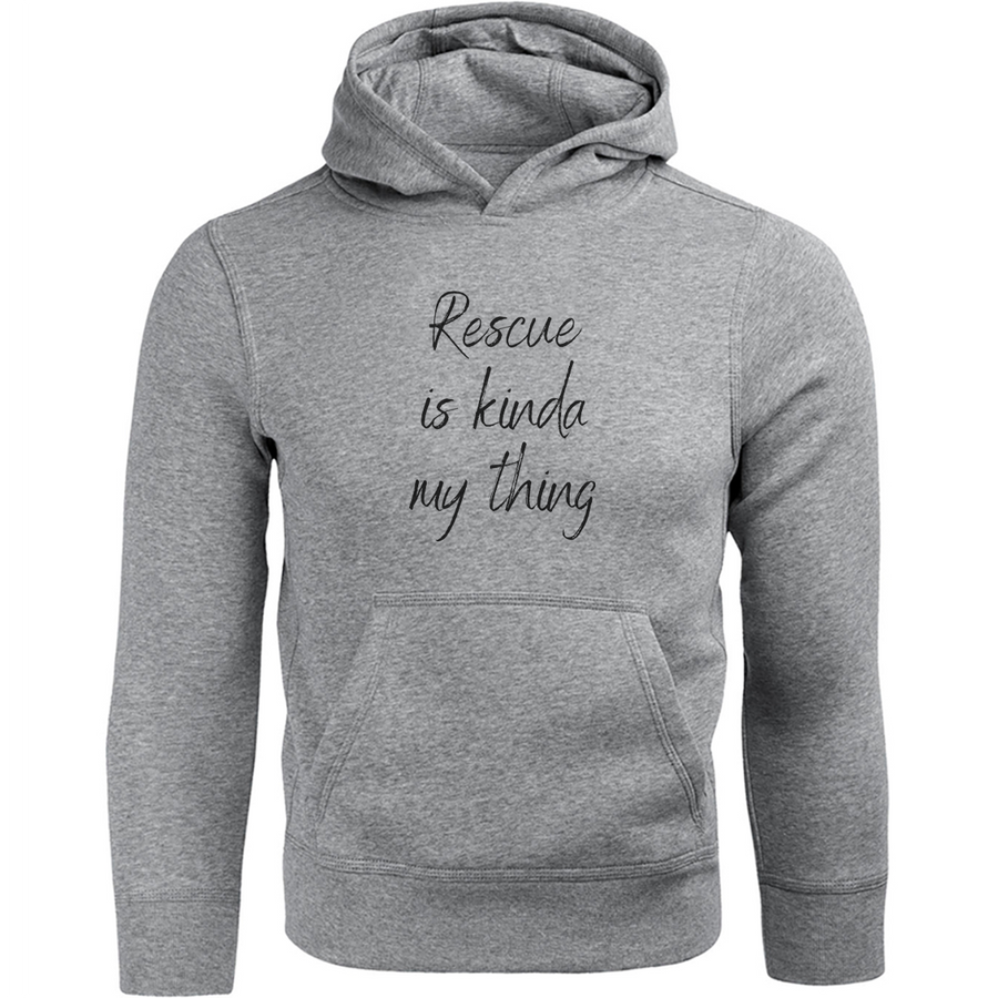 Rescue Is My Kinda Thing Deedlebug Cat Rescue front & back - Unisex Hoodie
