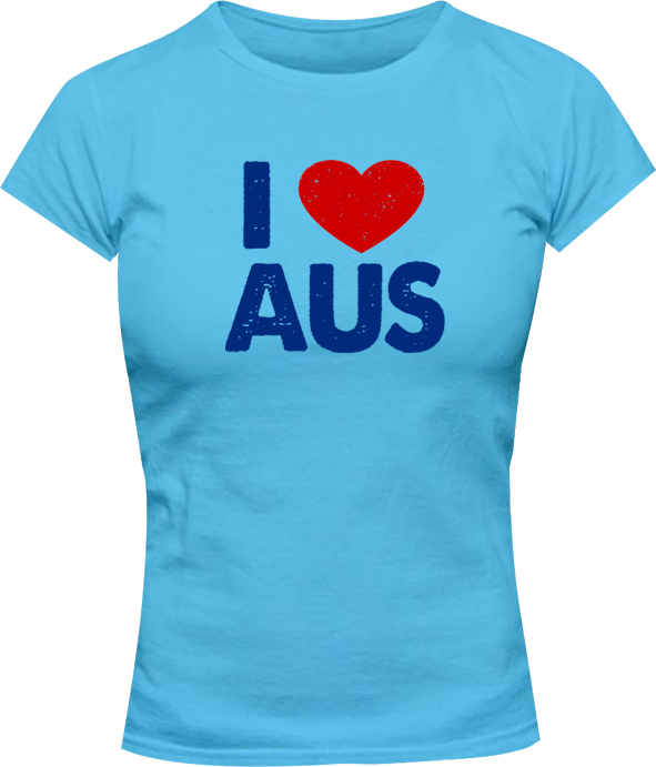 I Love Aus - Ladies Slim Fit Tee