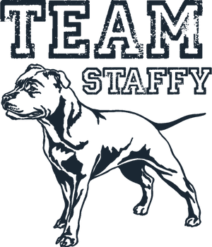 Team Staffy - Ladies Relaxed Fit Tee - Graphic Tees Australia