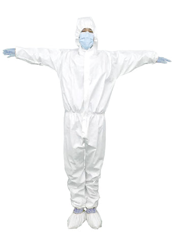 Non-woven fabric with TPU Coated Disposable Clothing White Personal Isolation Clothing Protective Suit Gowns