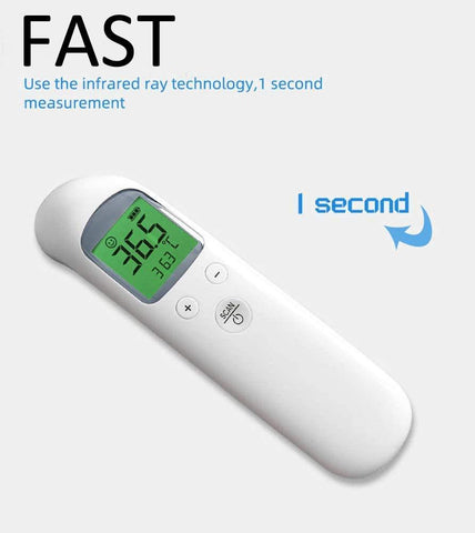 Digital Forehead Thermometer 8-in-1 Professional Infrared Temporal Fever Thermometer 1s Instant Accurate Reading for Baby Kids Adults iProven
