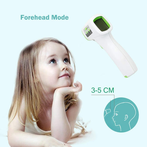 Digital Forehead and Ear Thermometer Professional Infrared Temporal Fever Hand Held Thermometers Non Contact Accurate Instant Readings Laser Temperature Gun for Baby Kids Adults
