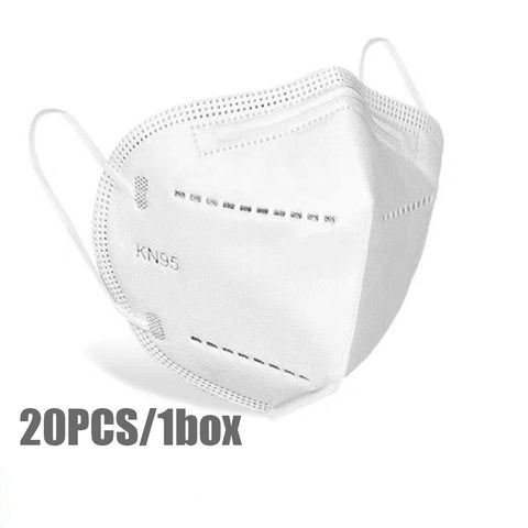 Image of KN95 Particulate Respirator w/Metal Nosepiece 20Pcs/Boxes