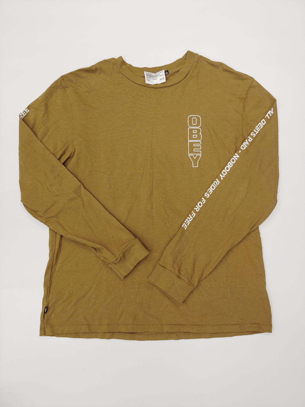 Obey Long Sleeve Men's Large