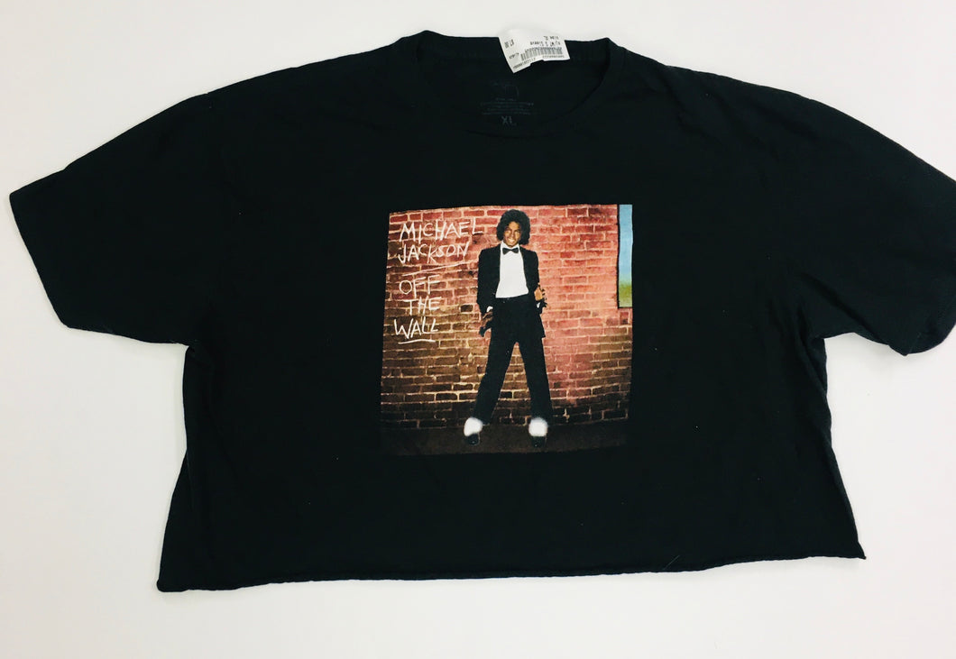 Michael Jackson Crop T-Shirt Women's Size Extra Large