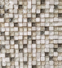 Earth Tone Crackle Glass Mix - FAOQ-1 - Faiola Tile
