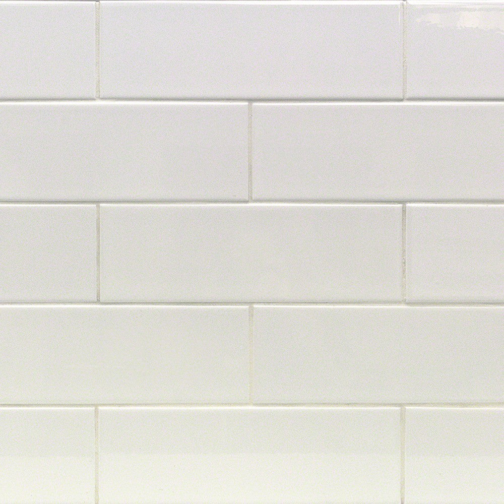 4x12 White Subway Tile - Faiola Tile