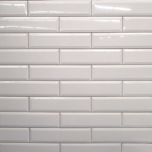 4x16 White Bevelled Subway Tile