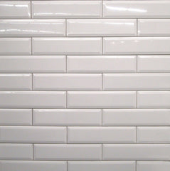 4x16 White Bevelled Subway Tile - Faiola Tile