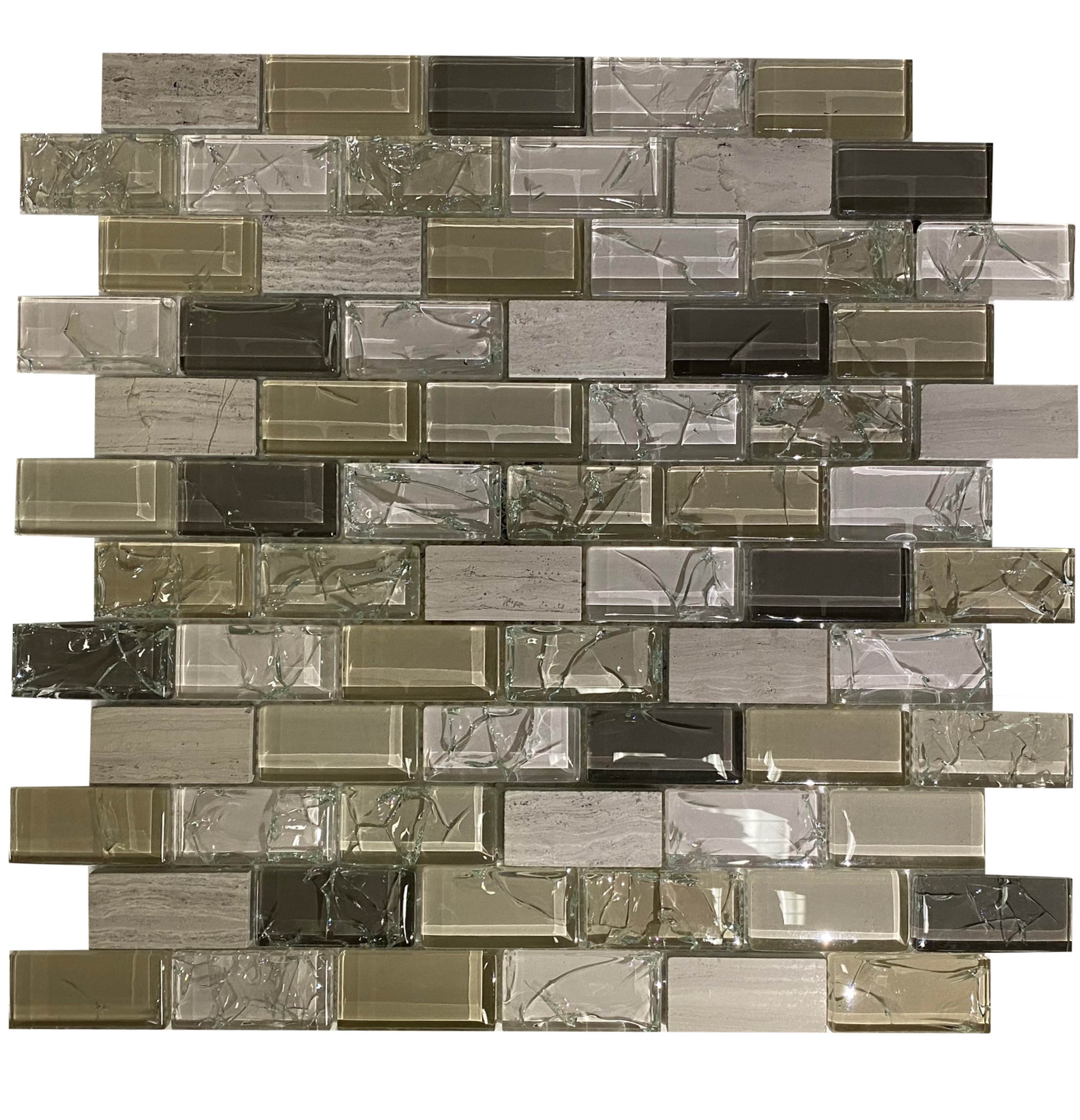 Earth Tone Crackle Glass - ATA4419 - Faiola Tile