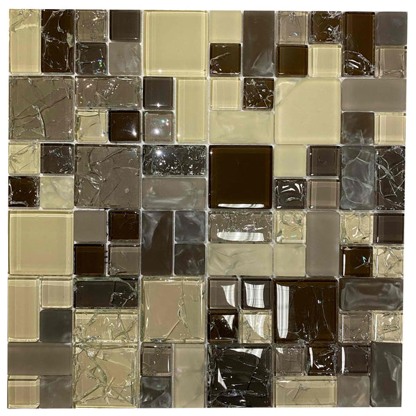 Cream/Brown Glass Mix - BH001