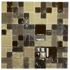 Cream/Brown Glass Mix - BH001 - Faiola Tile